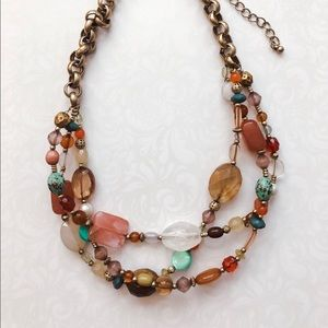 Lia Sophia chunky necklace with 3-strands